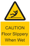 CAUTION Floor Slippery Sign