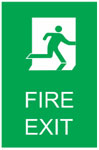 FIRE EXIT 2 Sign