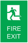 FIRE EXIT 3 Sign