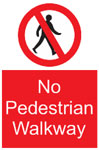 No Pedestrian Walkway Sign