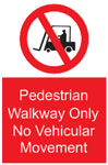 Pedestrian Walk Away Sign