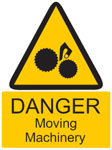 Sign For Moving Machinery
