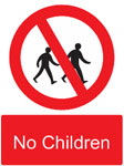 Sign for No Children