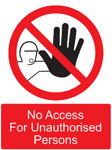Sign for Unauthorised Person