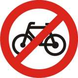 Cycles Prohibited Sign