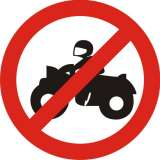 Two Wheelers Prohibited Sign
