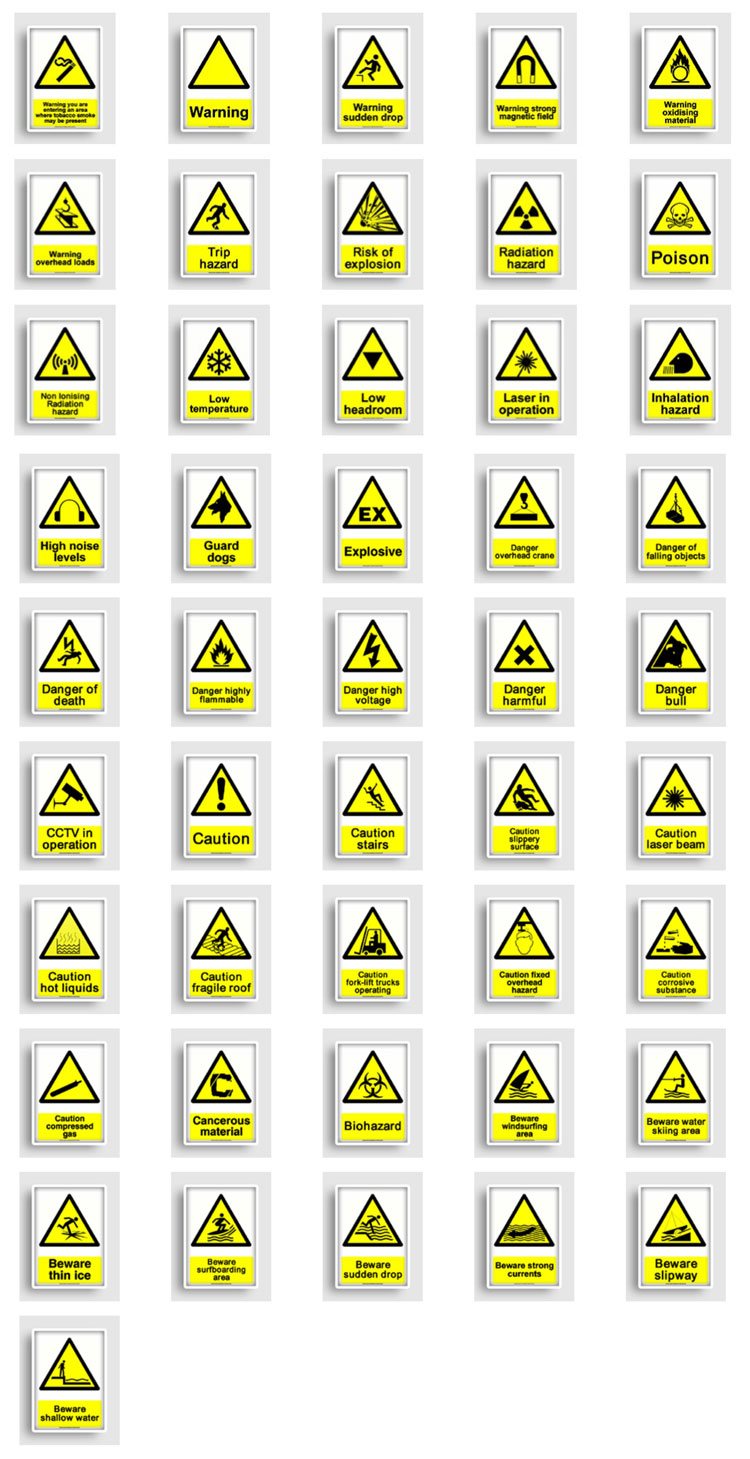 Osha Hazard Warning Signs
